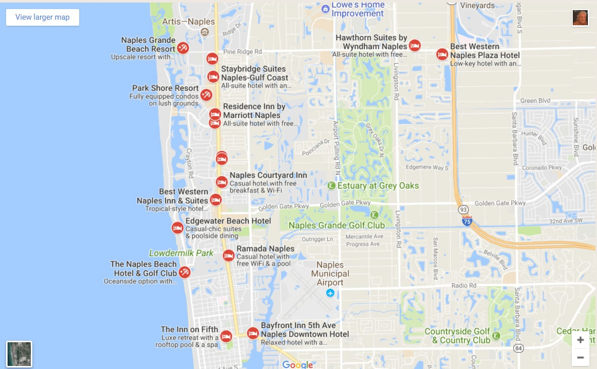 Map Of Florida Hotels Map Of Hotels In Florida | 2018 World's Best Hotels